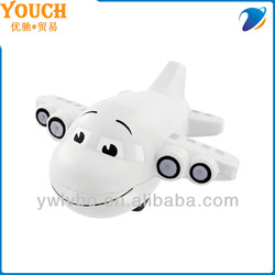 promotional pu anti stress balls pu ball White Small Airplane Stress Ball