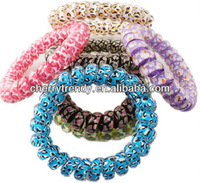 Stretch Telephone Wire Hair Band Bracelet for Women with Cute Pattern