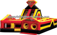 Double rush inflatable obstacle course,inflatable games W5028