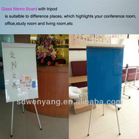 free standing flip chart with whiteboard magnetic glass