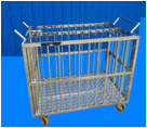 Stainless steel Cage livestock with wheels