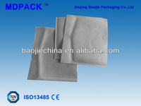 Heat sealing medical disposable sterilized pouches for washed cotton stick