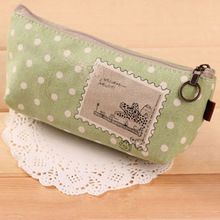 polka dot microfiber pencil bag for sale