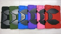 Heavy duty military duty Silicone hybrid kickstand case for iPad mini