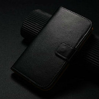Luxury leather flip case for samsung galaxy s4 mini, wallet case for samsung s4 mini, custom cover for samsung galaxy s4 mini