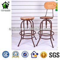 Vintage Industrial Adjustable Vintage Metal Bar Stools