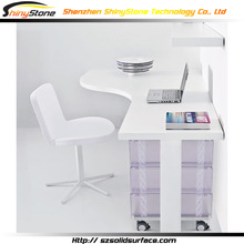 STOD-043 curved table top design krion solid surface home writing desk