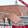 E1 270X170X14mm decorative malaysia natural flat clay roof tiles
