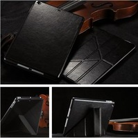rotating pu leather case for ipad air,leather flip case for ipad 5