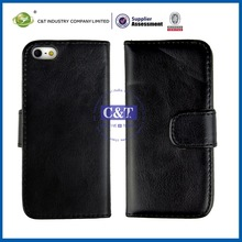 Newest blank sublimation leather id credit card holder case for iphone 5c