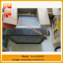 Jonyang JY230E customized made aluminum brazed plate fin radiator excavator radiator water tank