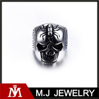 MJ Jewelry wholesale fashion jewelry ring 316L stainless steel spikes titanium rings MJ-R01106