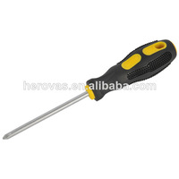 CRV Satin Screwdriver with TPR Covered Handle