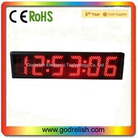 led large digital wall clock time display