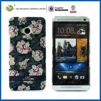 Top sale phone case beautiful leather phone case for htc one m7