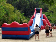 giant large adult size inflatable water slide with pool