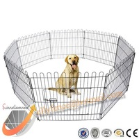 "32"" Light Weight Folding Dog Exercise Cage Pet Playpen, Keep Your Pets Safe Happy and Healthy"