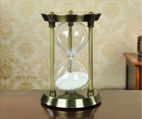 art carft European vintage anqutie copper 30 minutes hourglass sand timer home decoration wedding gift