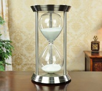 art carft European silver copper 60 minutes large size hourglass sand timer home decoration wedding gift