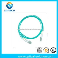 OM3 multimode duplex fiber optic patch cords with LC/PC connector