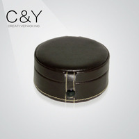 (CY-S8816)Round PU leather jewelry GIFT BOX case exporters