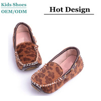 Oxford sole leopard hair loafers sexy girls fashion casual shoes high quality children nude shoe