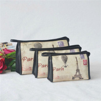 2014 newest cosmetic PU bag with printed logo,a Three-piece cosmetic bag