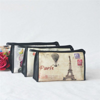 cosmetic PU bags with printed logo,a Three-piece cosmetic bag
