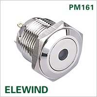 ELEWIND 16mm metal push button with Dot light(PM161F-10D/J/R/1.8V/N ,CE,ROHS)
