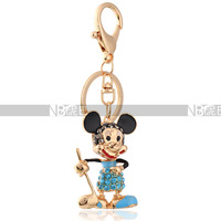 Free Shipping Mickey Mouse Animal Crystal Keychains Fashion Gift Design Bag Accessories