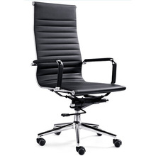 Tall Big High Back Chair Black Leather Office Conference Computer Task Room Seat (FOH-F11-A02)