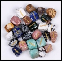 Natural Semi-precious Stone Gift Word Engraved Reiki Tumble Stone