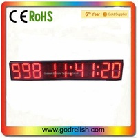 7 segment led display for countdown timer
