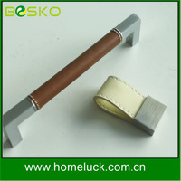 wholesale furniture cabinet genuine leather handle for furniture