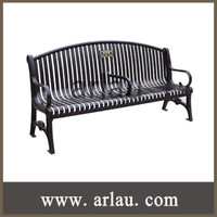 (FS-004) Outdoor Cast Iron Frame Garden Arch with Bench