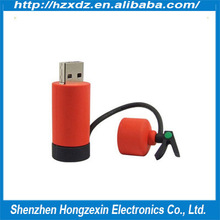 Silicone usb flash pen drive 4GB simulation fire extinguisher OEM