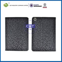 Mobile phone accessory slim leather case cover for apple ipad mini