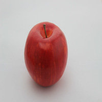 Vintage frosted artificial miniature fruit collection red apple for home decor/Yiwu sanqi craft factory