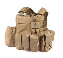 Quick Release Military Tactical Vest with Bullet Pouches