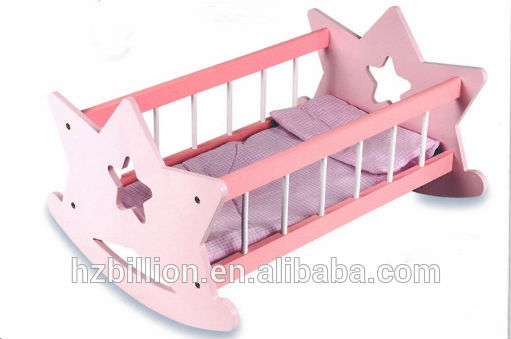 Wooden Doll Cradle Doll Furniture Rock Bed Buy Doll