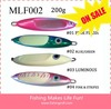 MLF 002 200g/300g Wholesale Deepsea Sport Fishing Saltwater Metal Vertical Jig