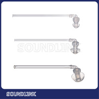 Hearing aid accessory clear silicone ear tip with tube