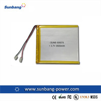 lithium polymer rechargeable li ion poly battery 3.7v 3600mah wireless camera battery