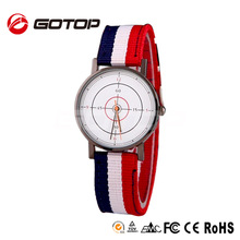 China Wholesale American Sports Waterproof Japan Movt Quartz Nylon Custom Watch Dial