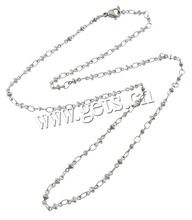 Customs Stainless Steel Bar Necklace Chain