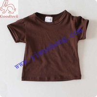 Wholesale short sleeve summer brown t shirt,summer blank cotton tank top