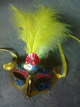 feathered venetian party mask for sale