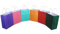 Cheap Online wholesale Multicolor paper gift bag, colorful kraft paper shopping bag