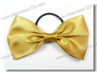 fancy fabric ribbon Christmas bow with elastic loop