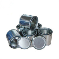 1L iron sample metal cans&round clear paint can